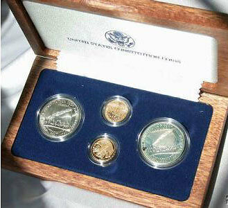 1987 Constitution 4 Coin Set Gold Amp Silver Both Proof