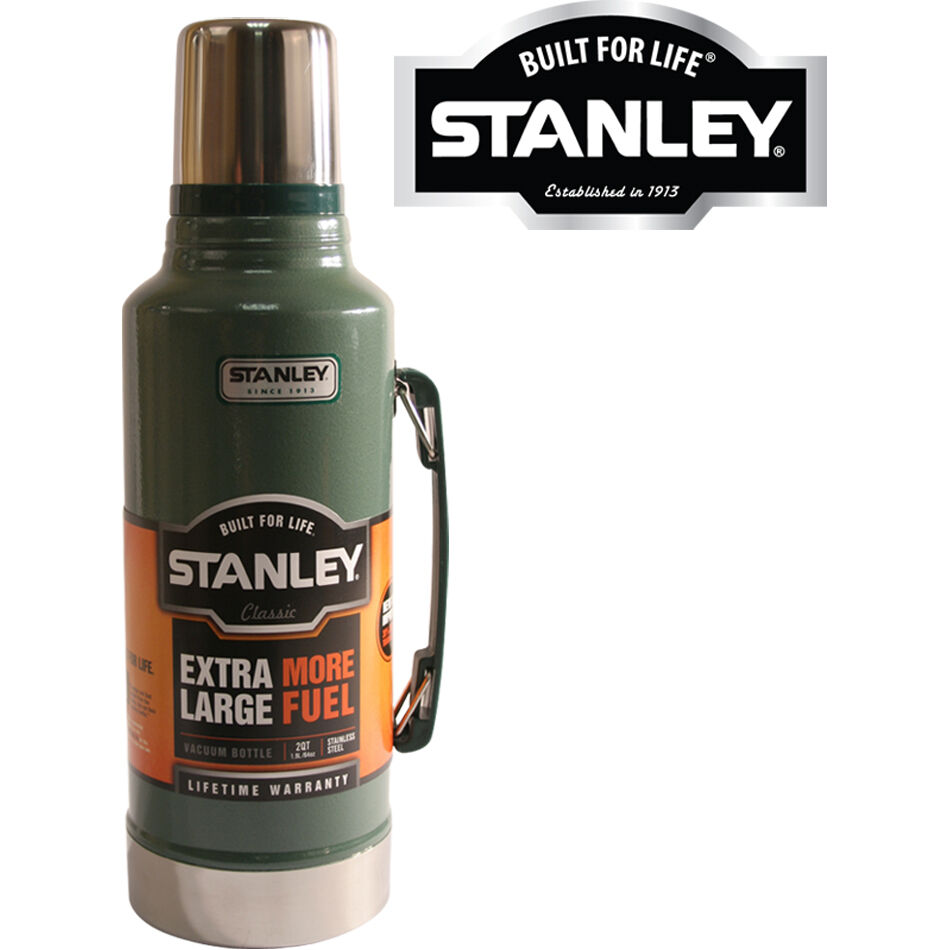 1 9l stanley drinks flask stainless steel vacuum bottle new 1 9 litre thermos ebay. Black Bedroom Furniture Sets. Home Design Ideas