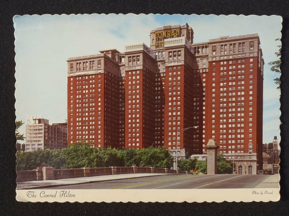 1960s the conrad hilton hotel chicago il cook co postcard for Hotel chicago hotel