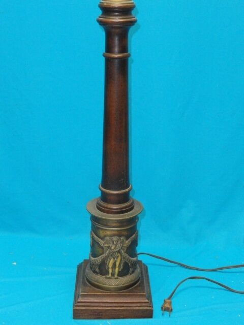mid century table lamps mid century italian wood amp bronze with relief table lamp 11433