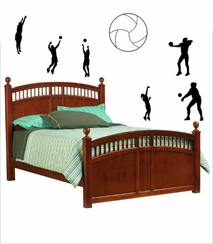 Volleyball Players Sports Vinyl Wall Decals Sticky Decor Letters