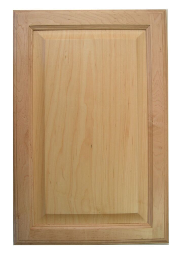 Maple raised panel kitchen bath cabinet doors refacing for Bathroom cabinet doors