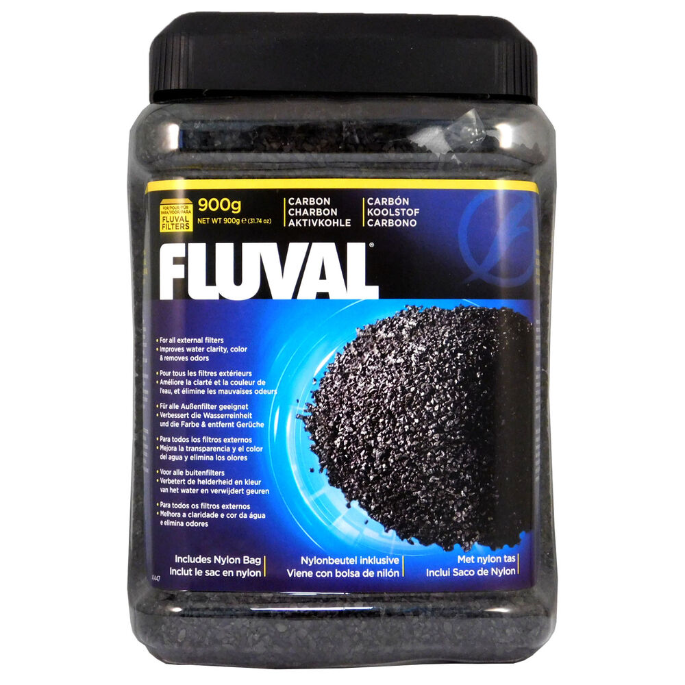 Hagen fluval activated carbon 900g free filter bag fish for Fish tank charcoal