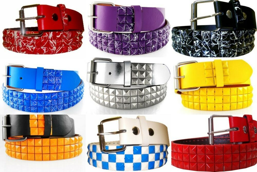 New Bps Cool Design Pyramid Studded Mens Womens Belts Faux