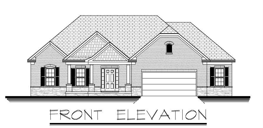 1996sf Ranch House Plan W Garage On Basement Ebay
