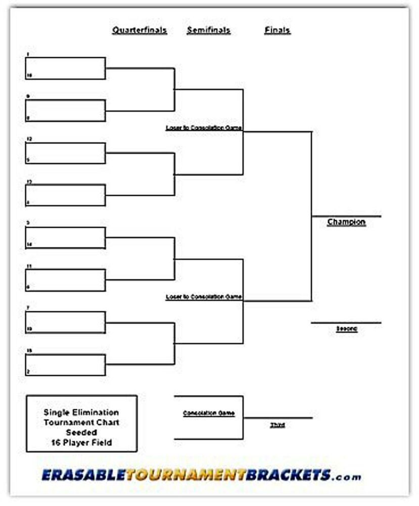 Printable 12 Team Seeded Double Eliminationbracket