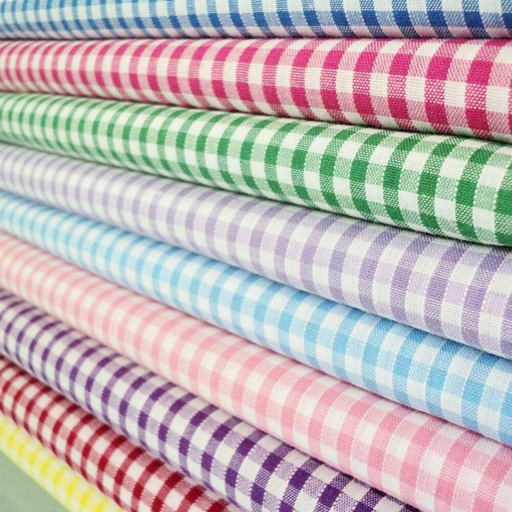 1 8th polycotton corded gingham fabric per metre all for The fabric of