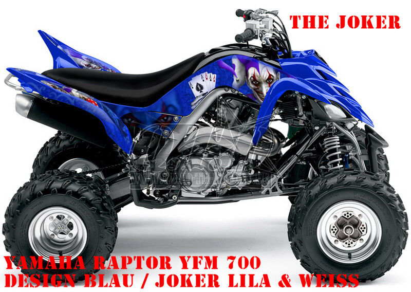 invision dekor graphic kit atv yamaha raptor yfm 125 250 350 660 700 joker b ebay. Black Bedroom Furniture Sets. Home Design Ideas