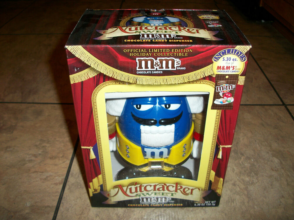 M s holiday blue nutcracker candy dispenser new