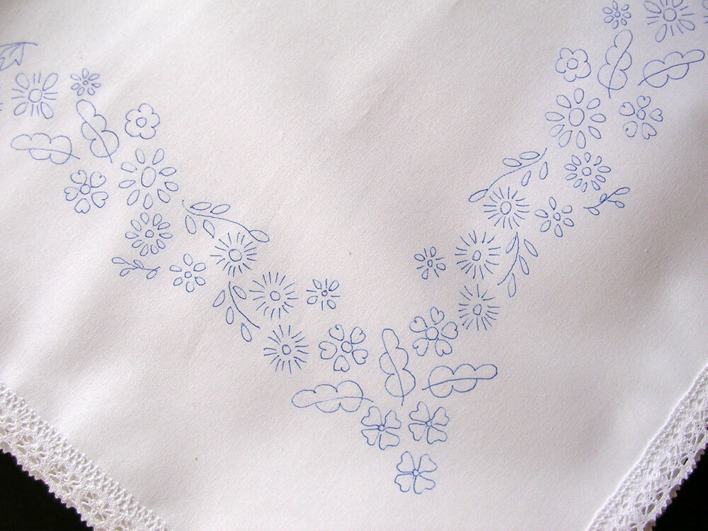 Tablecloth To Embroider Cotton Lace Edge Flowers Border