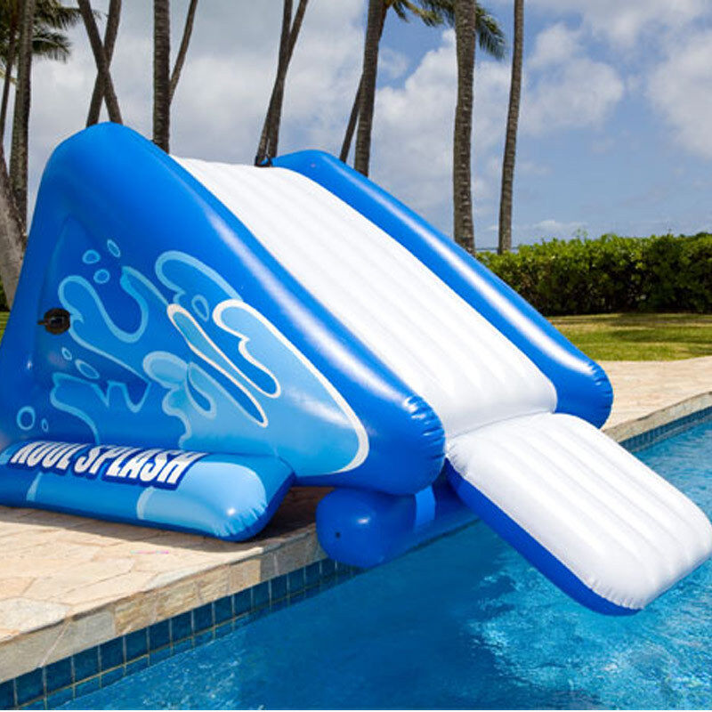 Intex splash inflatable water slide for inground swimming - Above ground swimming pool rental ...