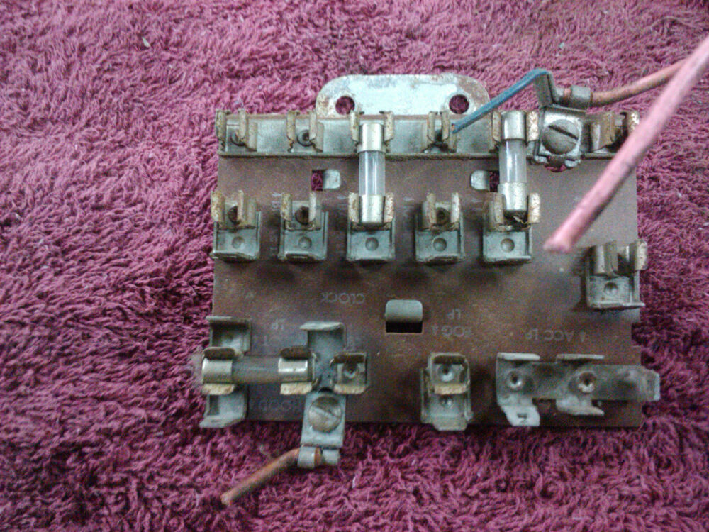 1955 chevrolet 55 chevy accessory fuse panel | ebay 55 chevy car fuse box location