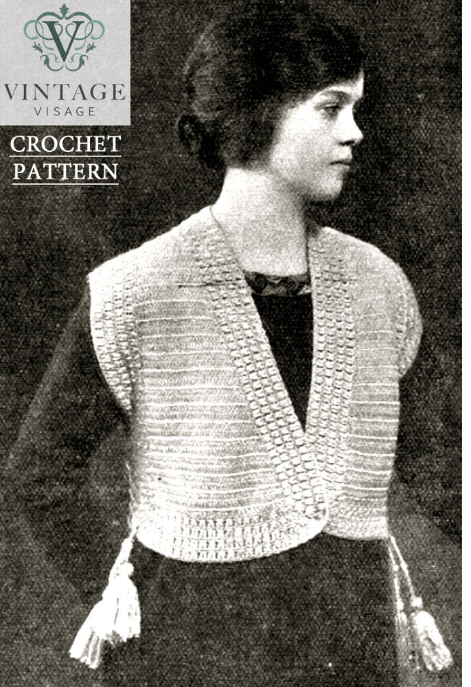 Downton Abbey Knitting Patterns Free : Vintage downton abbey era crochet pattern for a stylish jacket-free UK postag...