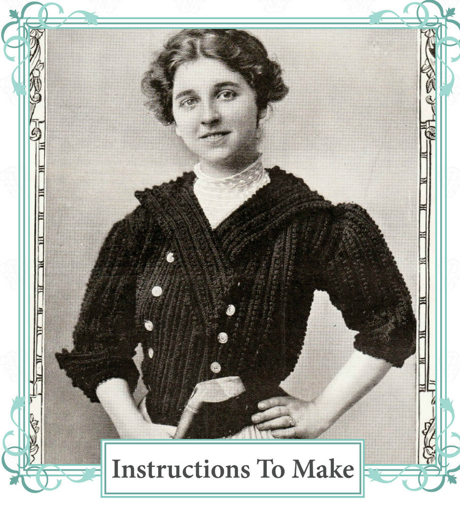 Downton Abbey Knitting Patterns Free : Vintage downton abbey era crochet pattern-How to make a stylish vintage jacke...