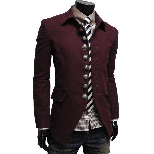 THELEES Mens Casual Slim Fit Long Sleeve Unique Jacket Coat Blazer Collection   EBay