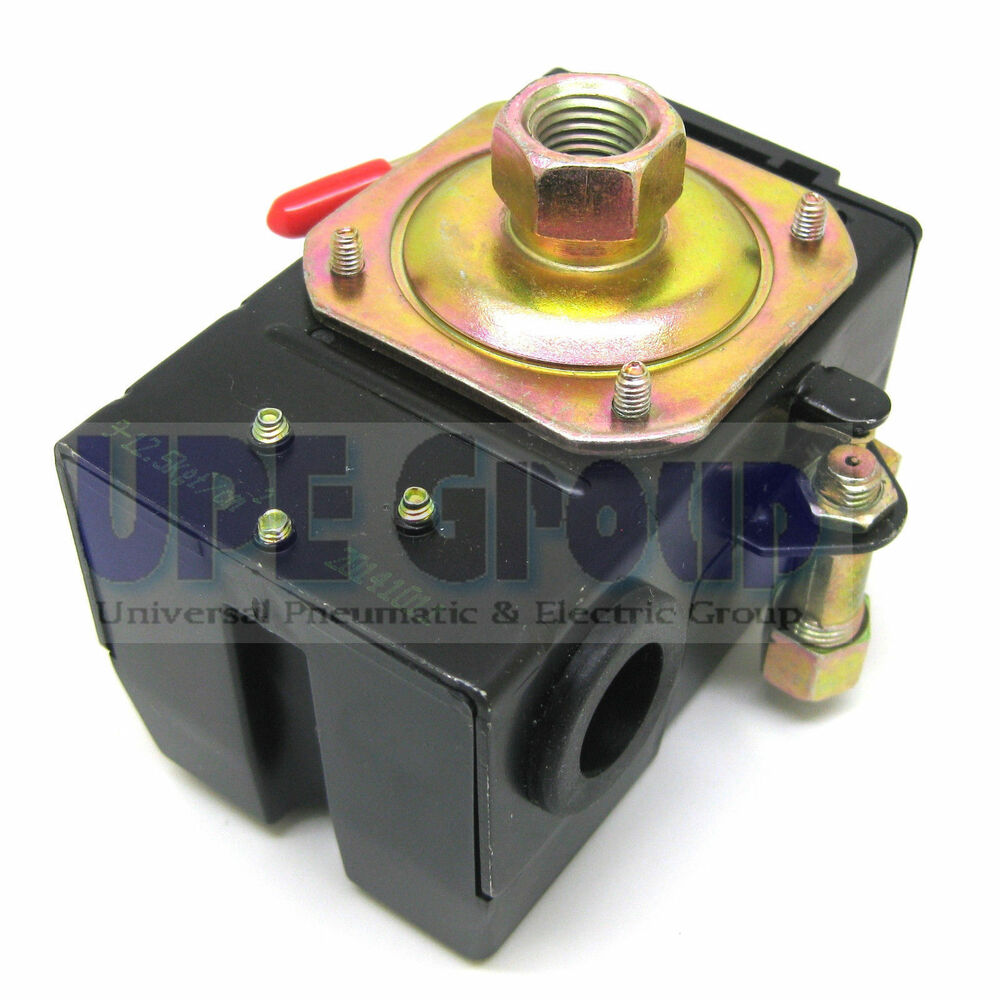 new pressure switch for air compressor 95 125 1port ebay. Black Bedroom Furniture Sets. Home Design Ideas