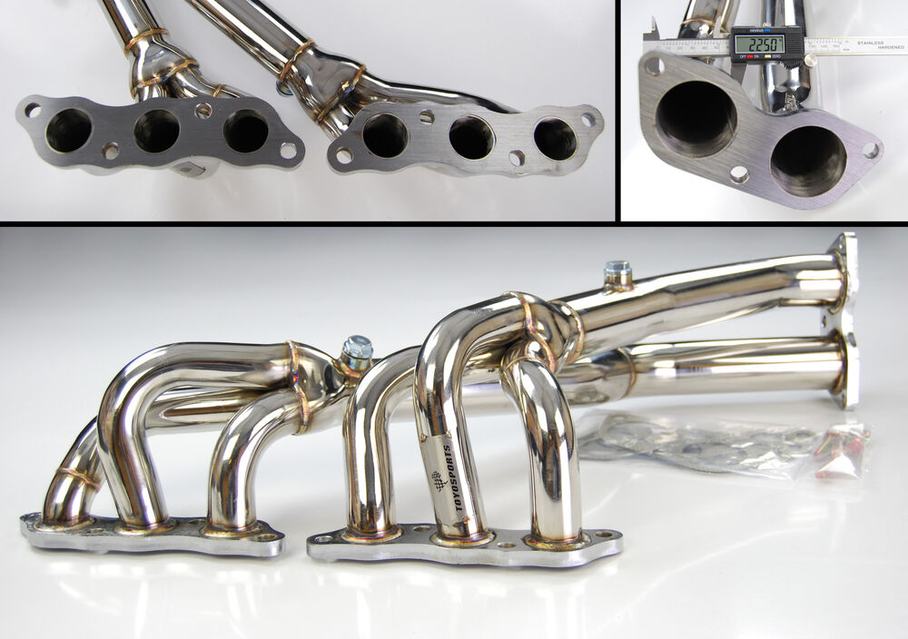 Stainless steel exhaust no cat manifold for lexus is g
