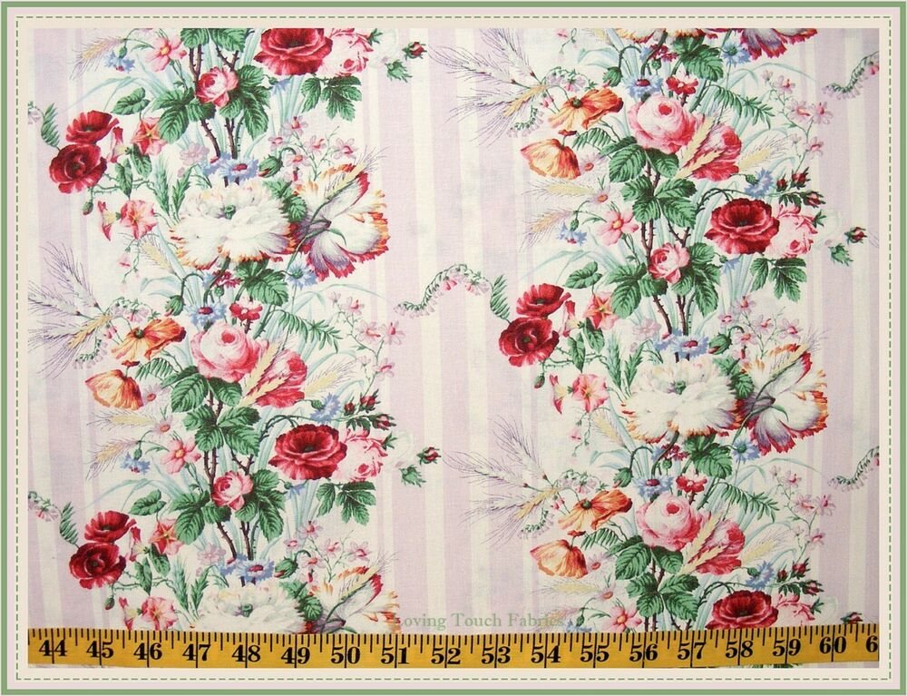 Windham anna griffin victorian floral rose bouquet for Victorian floral fabric
