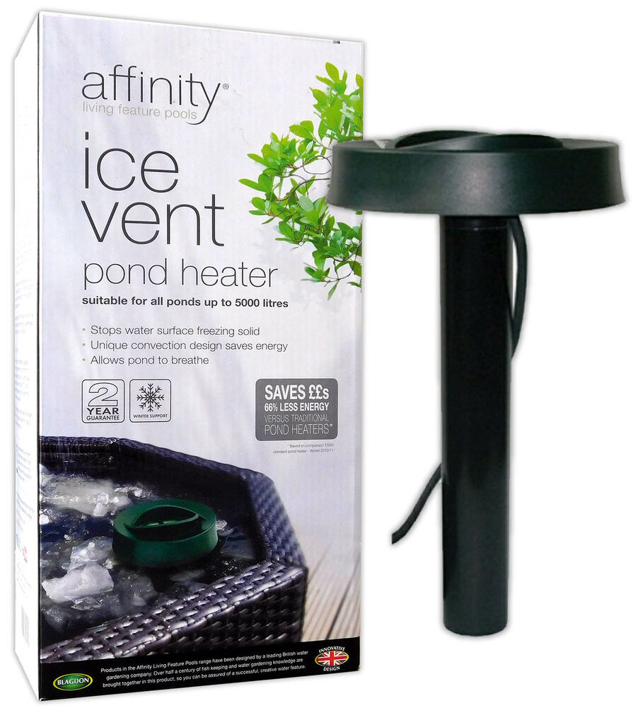 Blagdon affinity ice vent winter pond heater for cold for Koi pool heaters