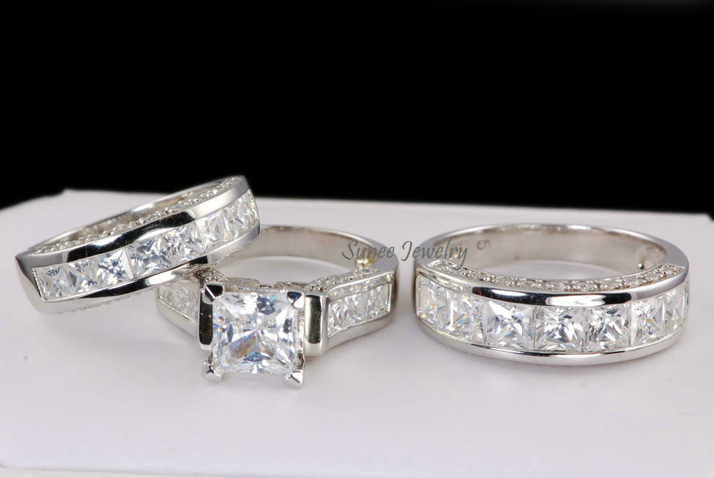 62 his and hers matching wedding sets solid 014