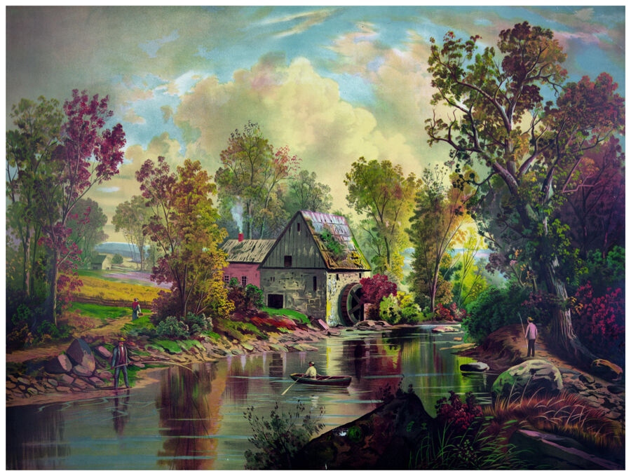 Decor Nature Poster Graphic Art Country House Painting Home Wall