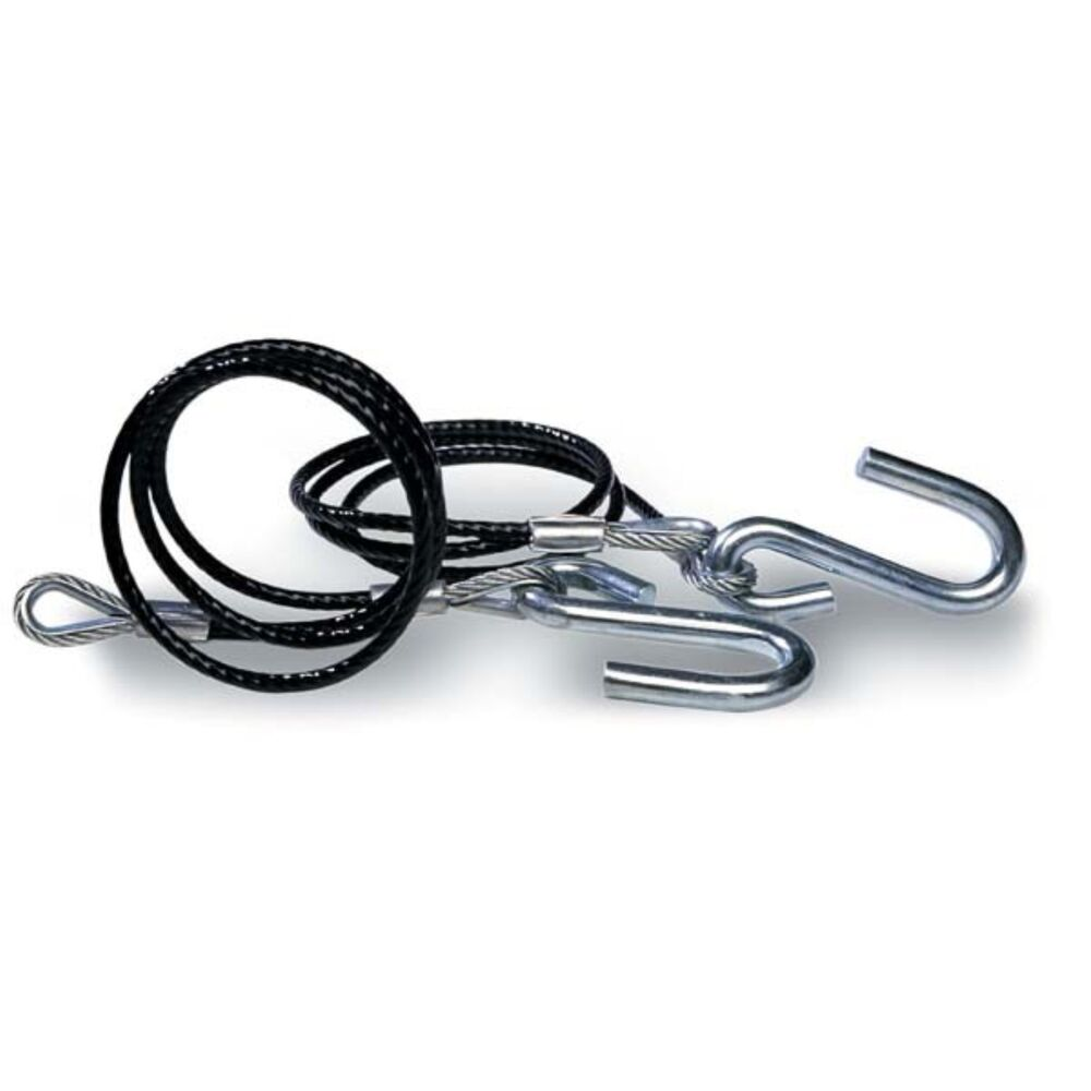 Trailer Safety : Tie down trailer safety cables black vinyl coated