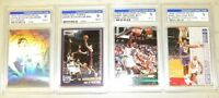 UTAH JAZZ 4 GRADED CARDS KARL MALONE & JOHN STOCKTON