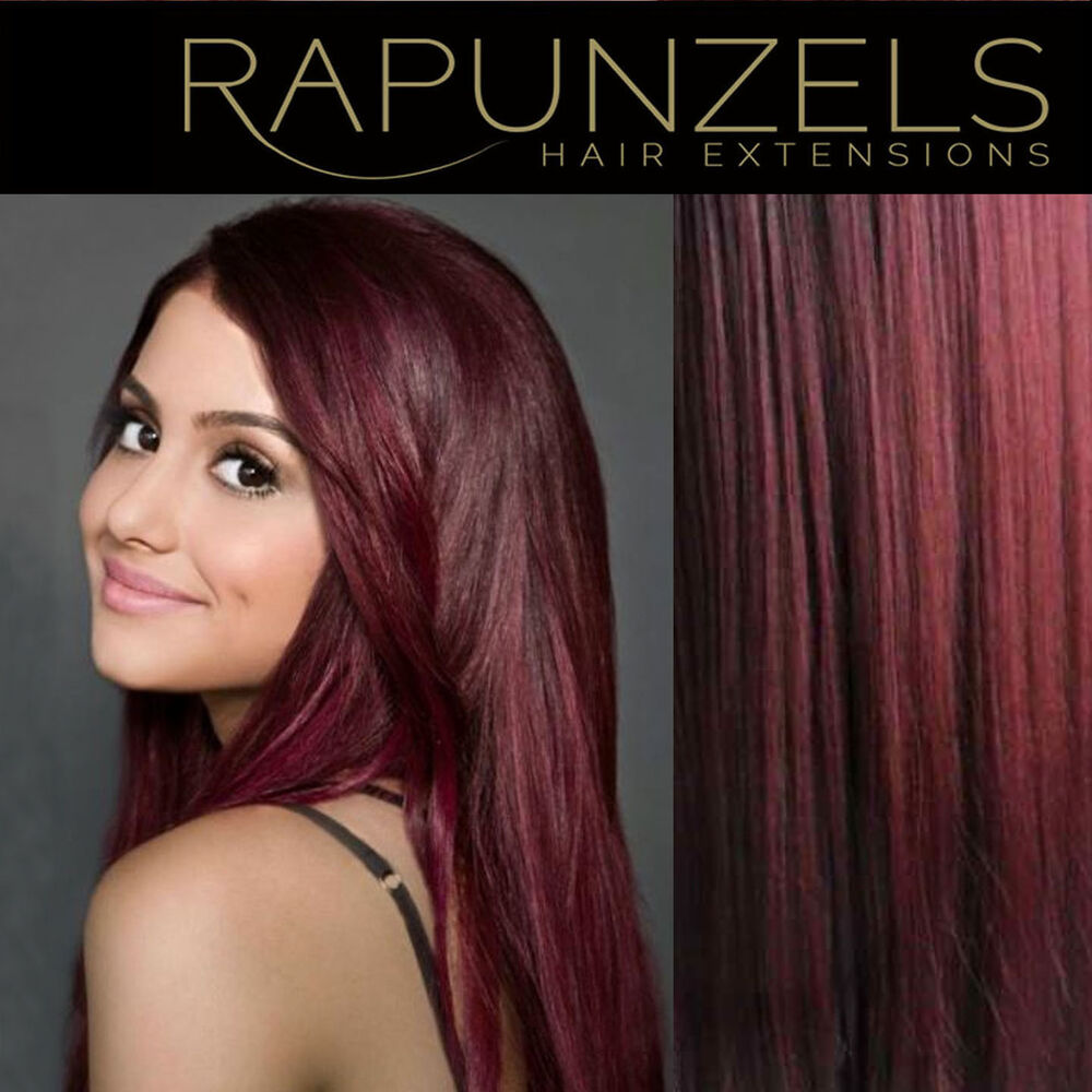 Burgundy red hair weave weft human remy hair extensions 16 20 burgundy red hair weave weft human remy hair extensions 16 20 24 lengths ebay pmusecretfo Image collections
