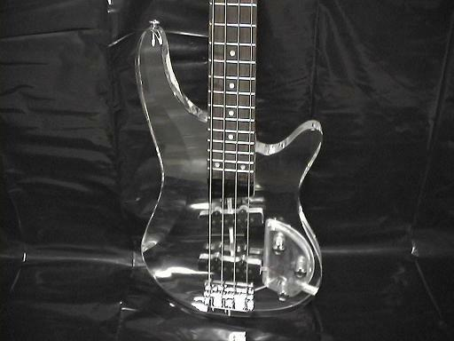 deluxe 4 string clear body lucite electric bass guitar brand new ebay. Black Bedroom Furniture Sets. Home Design Ideas