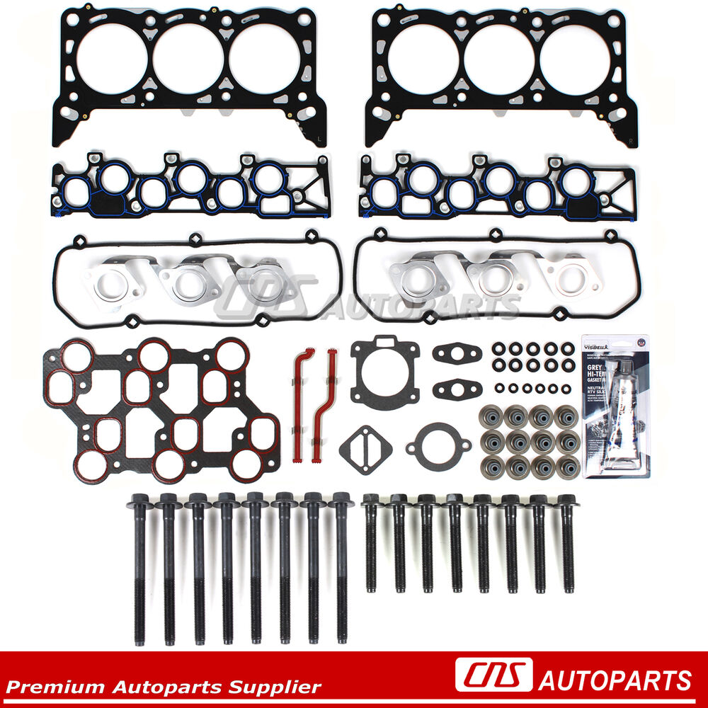Head Gasket Set Bolts Fits 01/15/1998-04 Ford Mustang F150