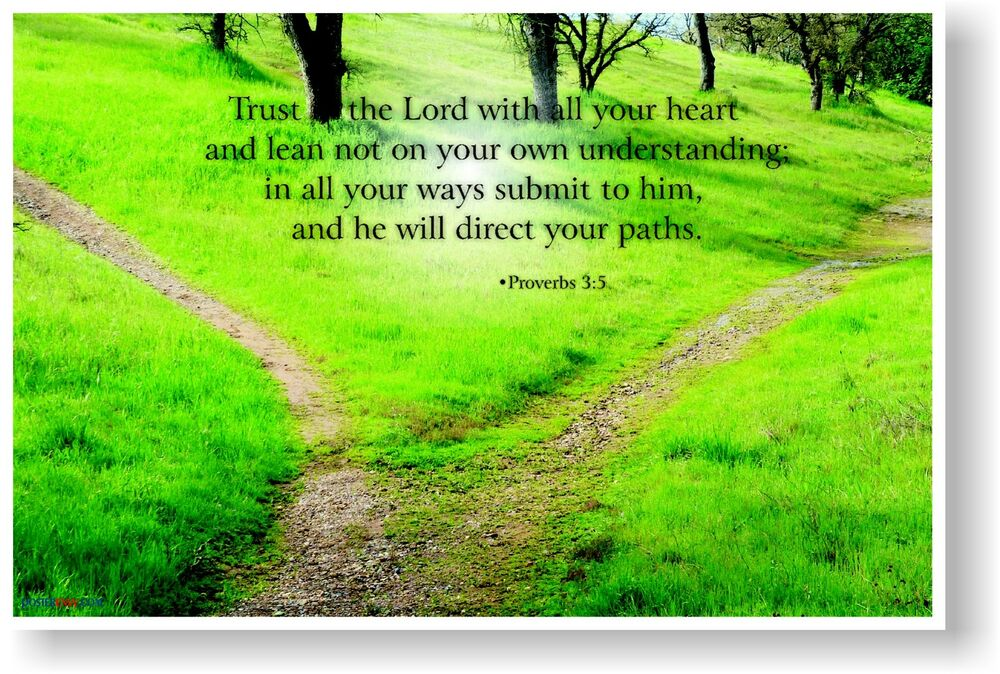 NEW Bible POSTER Trust In The Lord With All Your Heart