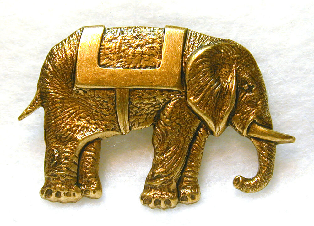 Hand crafted brass elephant button realistic free us for Handcrafted or hand crafted