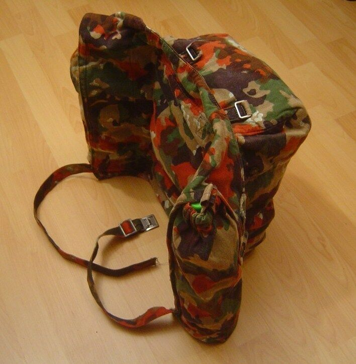 schweizer armee rucksack kleinrucksack m70 alpentarn ebay. Black Bedroom Furniture Sets. Home Design Ideas