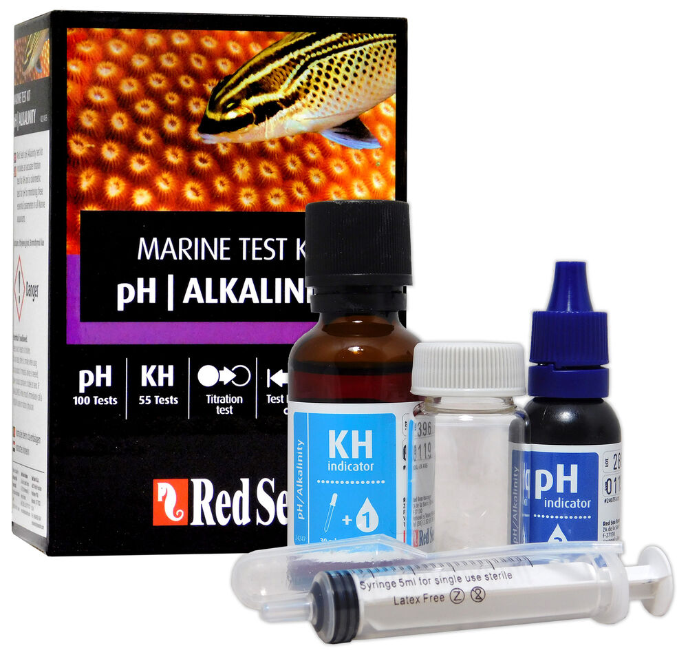 Red sea test kit ph kh alkalinity marine care program fish for How to lower ph in fish tank