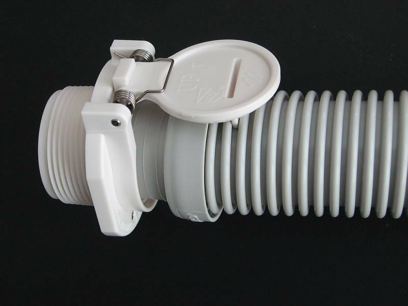 Vac Lock Safety Pool Wall Hose Fitting Connector White