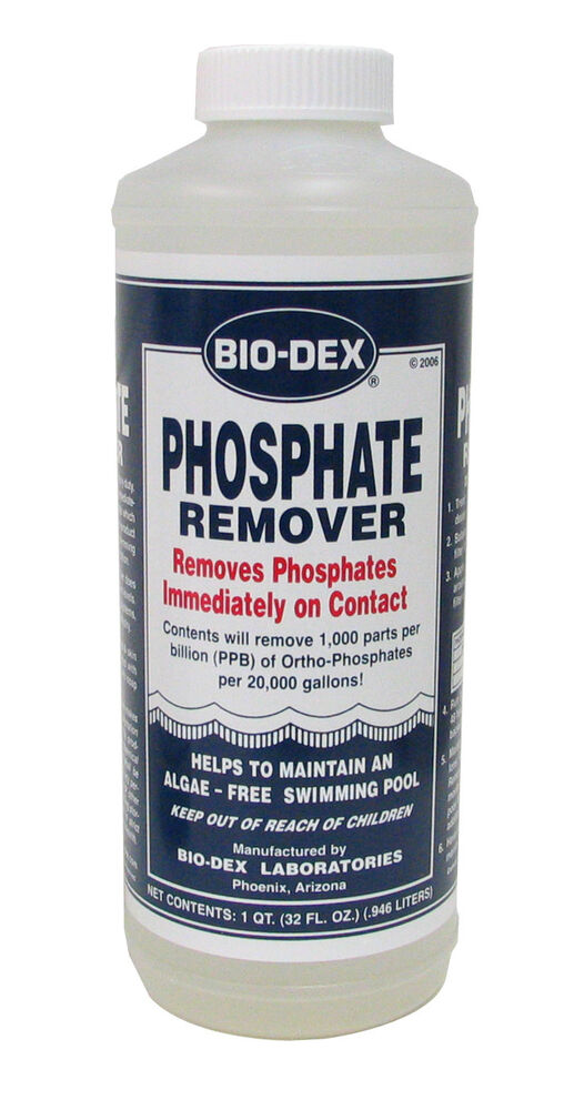 new bio dex heavy duty swimming pool phosphate remover 1 quart bottle ebay