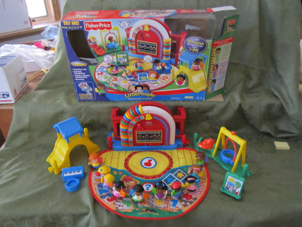 fisher price little people time to learn preschool numbers. Black Bedroom Furniture Sets. Home Design Ideas
