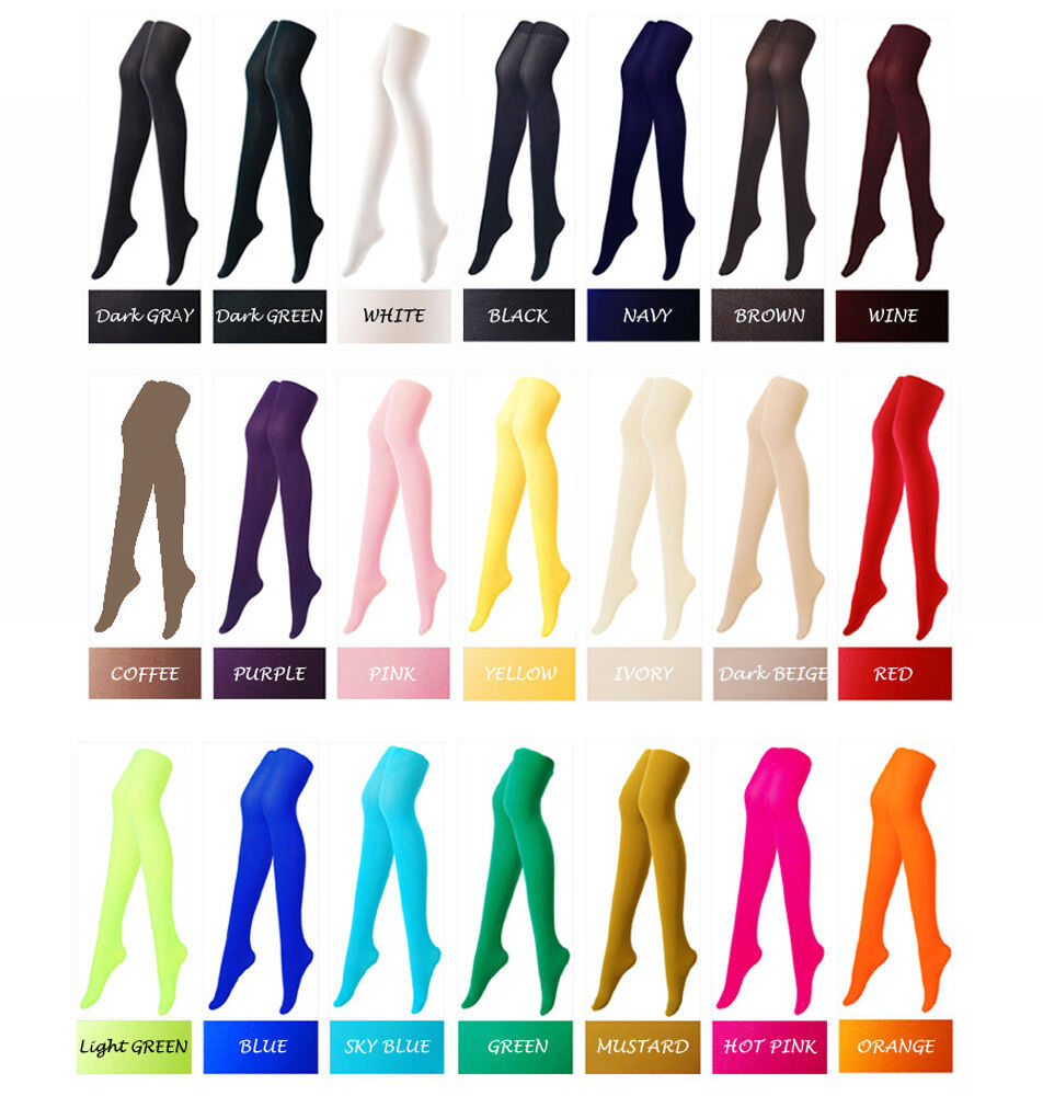 Colorful opaque pantyhose stockings tights 80 denier color colour - Colorful Opaque Womens Pantyhose Stockings Tights 80