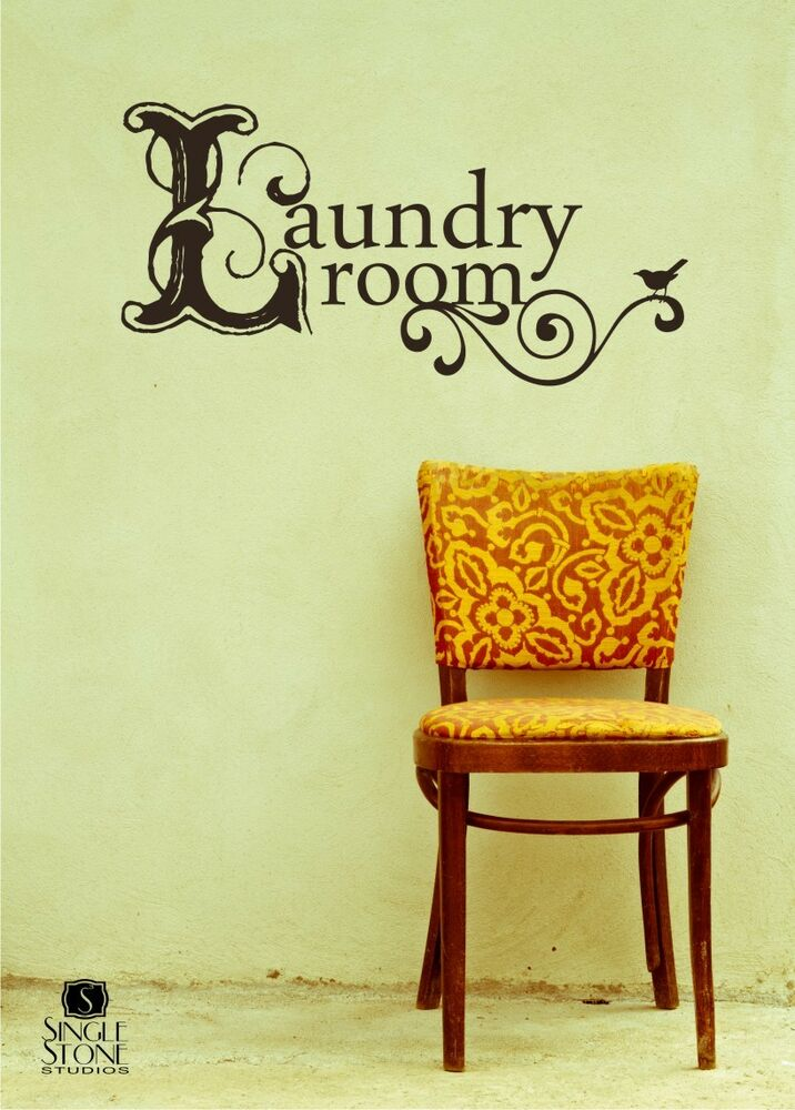 Vintage Laundry Wall Decal - Wall Art