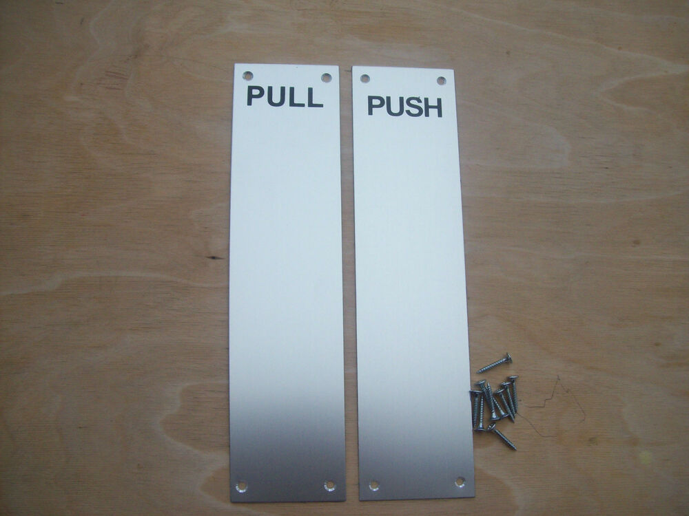 12 push pull saa metal finger plate door push pull plates for Door push plates
