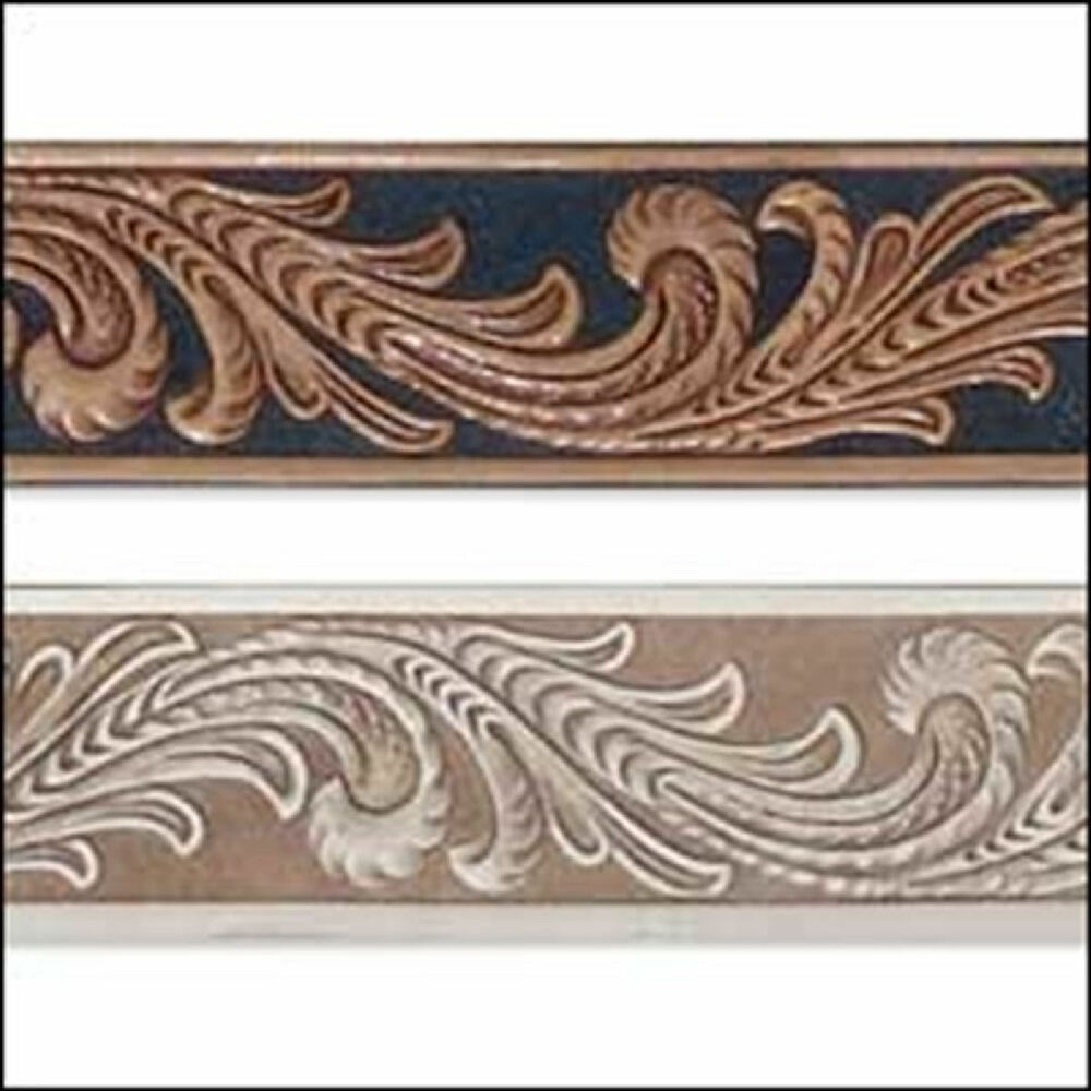 embossed floral vine belt blank 4593 00 by tandy leather