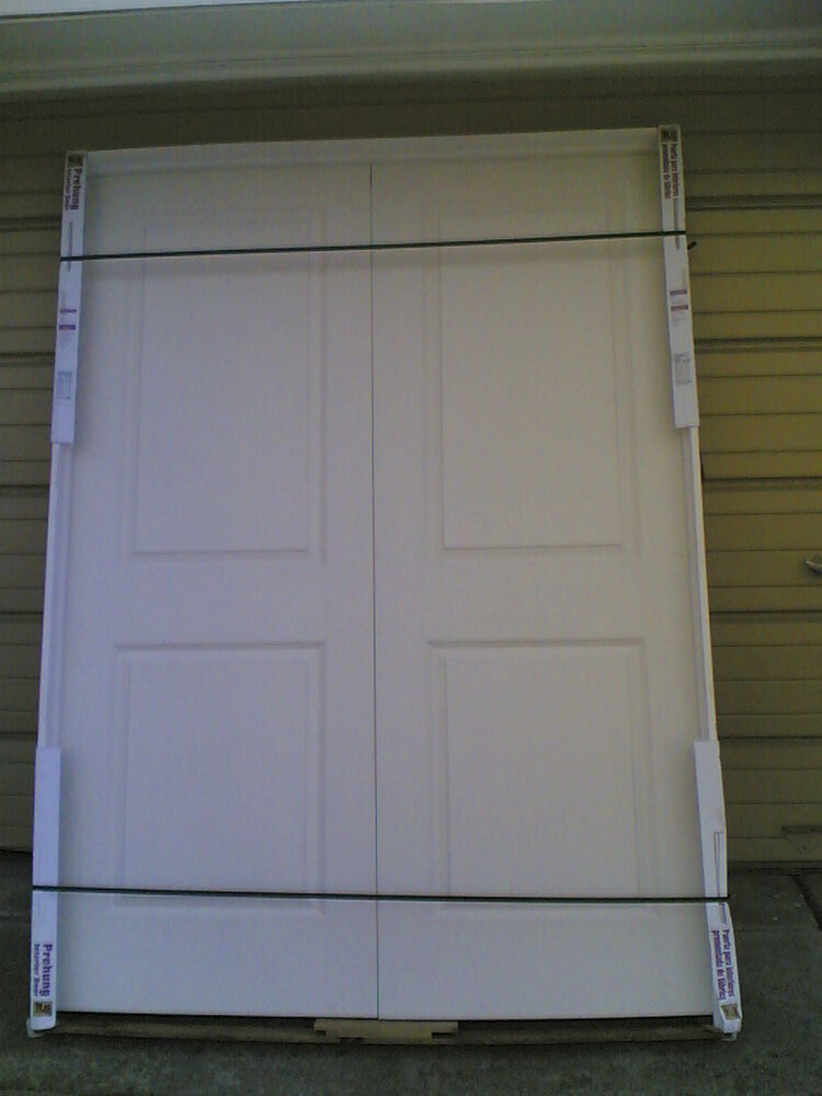 Brand New Double Pre Hung Hollow Core Interior Doors On Frame 59 W X 81 H Ebay
