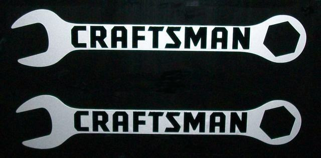Craftsman Logo On Wrenches Black On Silver Met Hq Vinyl