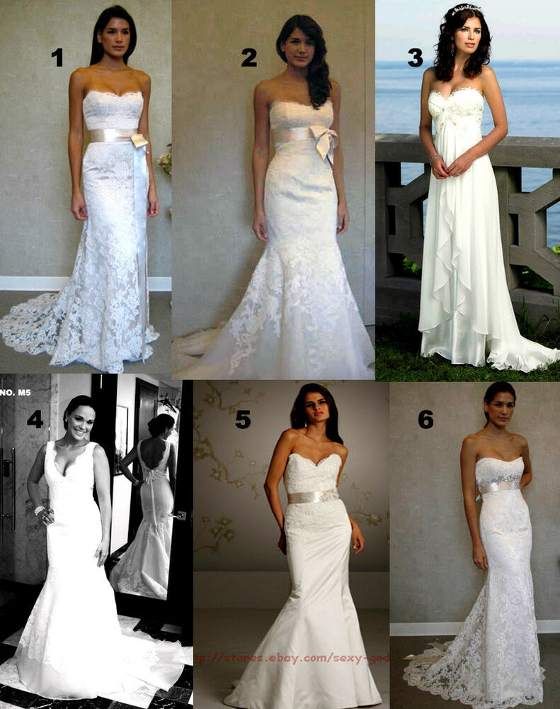 Beach Wedding Dresses Size 16 : Lace beach bridal gown wedding dresses size