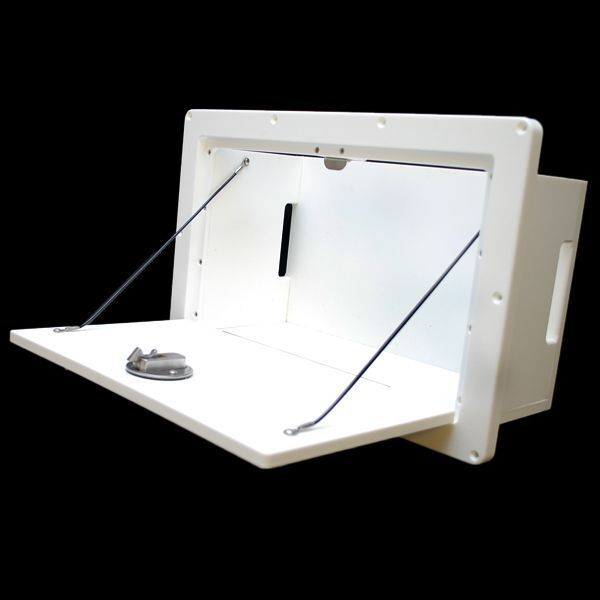 Mako 20216 white pollyboard 16 x 9 1 2 in boat hatch for Boat mailbox