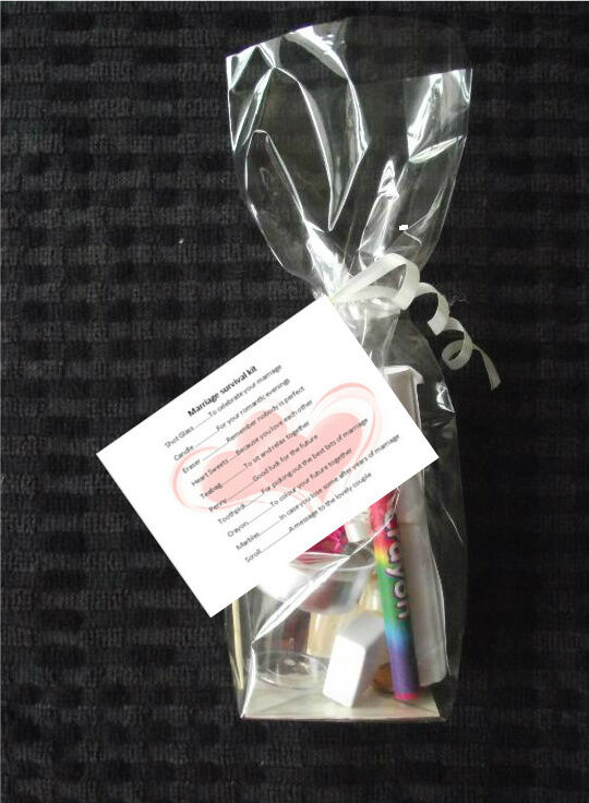 PERSONALISED MARRIAGE BRIDE AND GROOM SURVIVAL KIT GIFT EBay