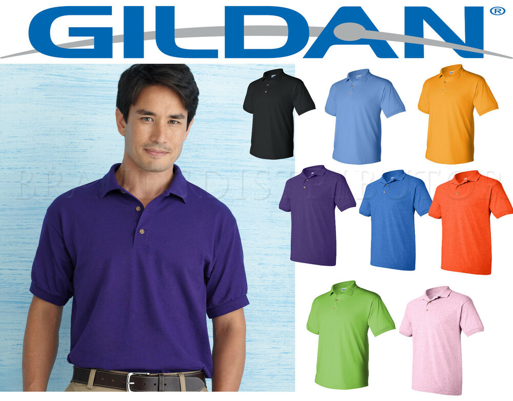 12 golf polo shirts gildan blank bulk lot smlxl wholesale for Wholesale polo style shirts