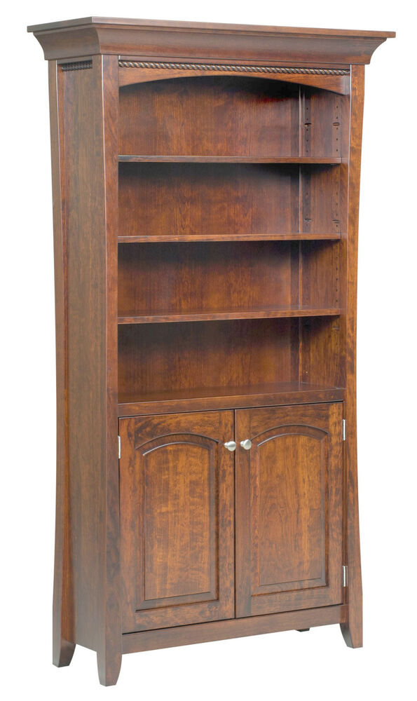 Amish bookshelf bookcase solid wood wooden furniture for Unfinished wood furniture