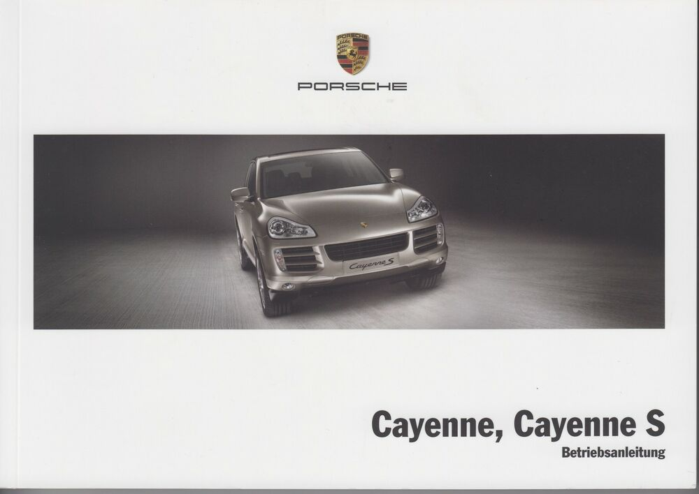 porsche cayenne cayenne s betriebsanleitung handbuch. Black Bedroom Furniture Sets. Home Design Ideas