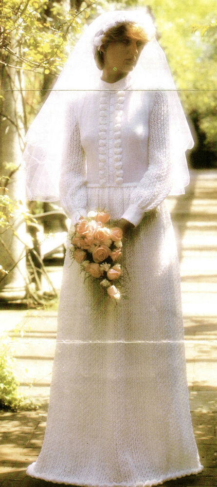 Vintage knitting pattern for stunning romantic lace for Ebay vintage wedding dress